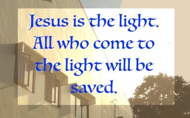 Jesus is light
