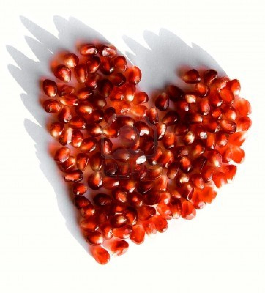 red heart of seeds