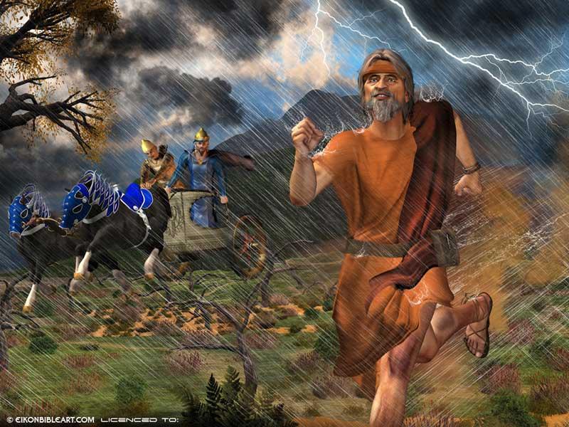 Elijah runs ahead
