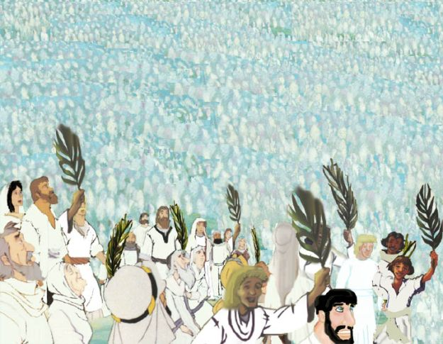 multitude in white robes