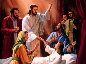 Jesus raised dead child to life