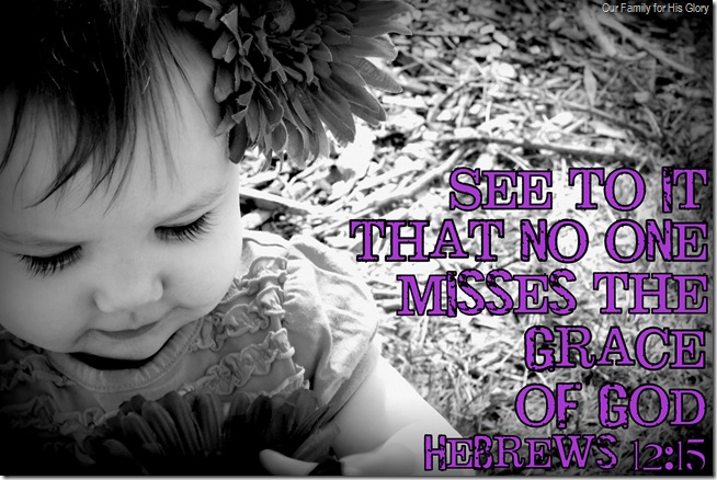 no one misses the grace of God