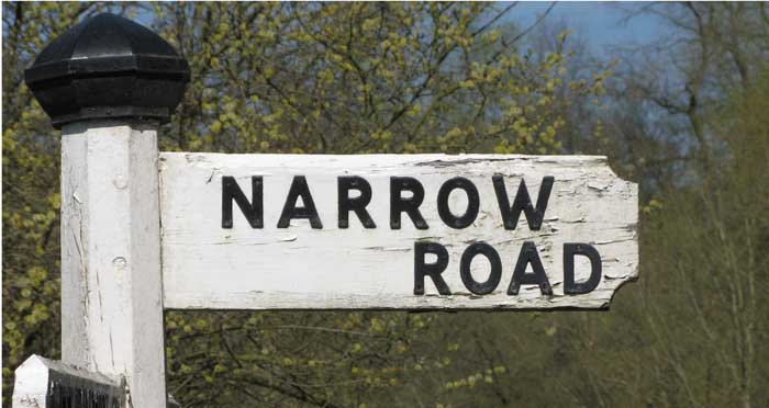 narrow gate difficult road