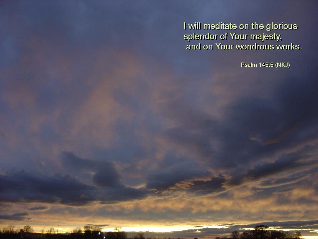 Praise God for His wondrous works