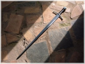 Sword of the Spirit word on rock