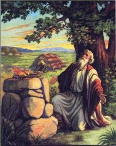 Abraham at the altar