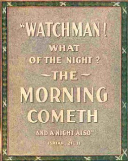 isaiah watchman what of the night