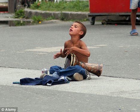 London street Greek abandoned child