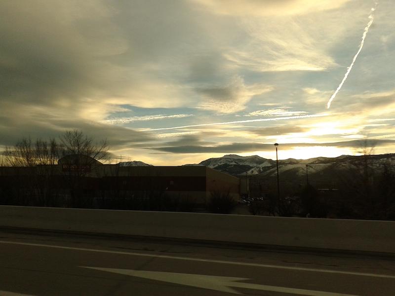 sunset here in Reno