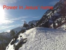 power in Jesus' name