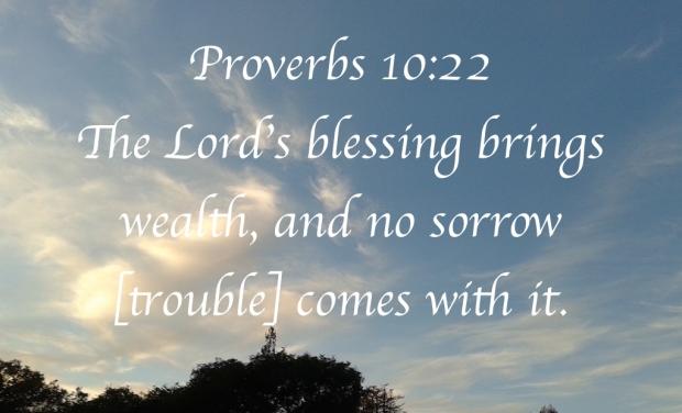 Bible verses Proverbs 10:22