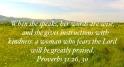 Proverbs 31:26, 30