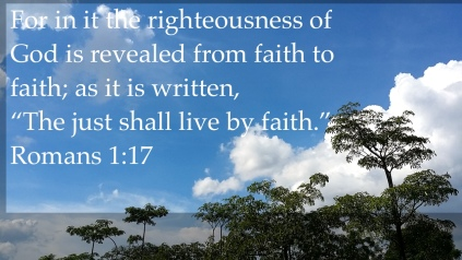 Romans 1:17 live by faith
