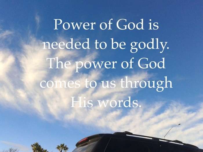 power of God's words