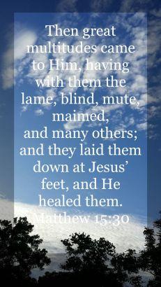 Matthew 15:30