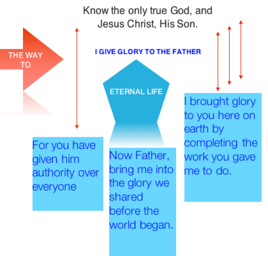 Bible in Diagram: John 17:1-5 – AAAJ watchman
