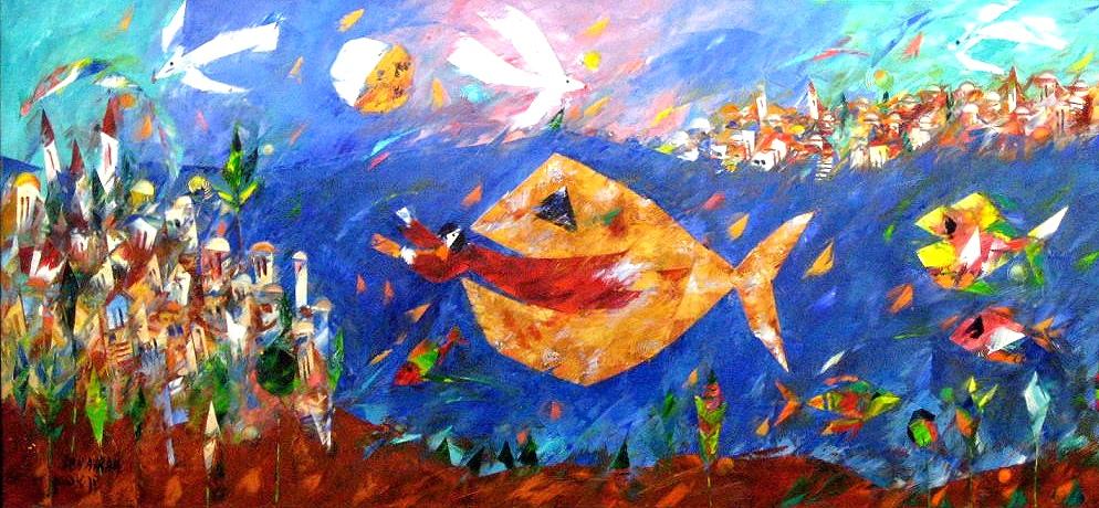 Jonah and fish